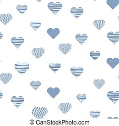 Heart baby cute seamless vector pattern.