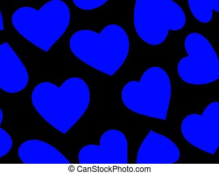 Heart Background Blu