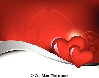 heart background - vector heart beautiful background design