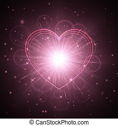 Heart background pattern - Flare background with glowing...