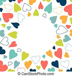 Heart background pattern. Round shape festival background isolated .