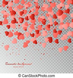 Heart background - Valentines Day vector illustration with a...