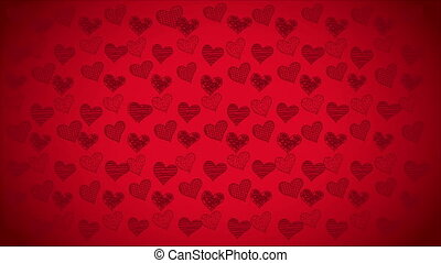 Heart background Video animation - Red heart background,...