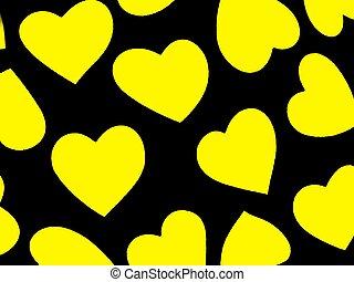 Heart Background Yel