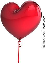 heart., balloon, amour, air