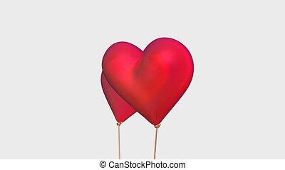 heart balloon - heart shaped balloon on the white