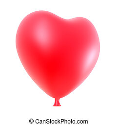 Heart balloon isolated on white background.