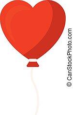 Heart balloon, vector or color illustration.