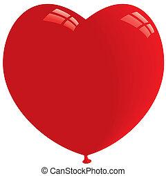Heart Balloon. Vector