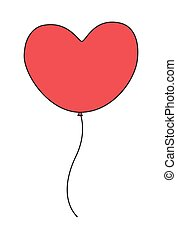 Heart Balloon - Vintage Red Heart Shape Valentine Balloon...