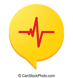 Isolated illustration of a heart beat conceptual icon