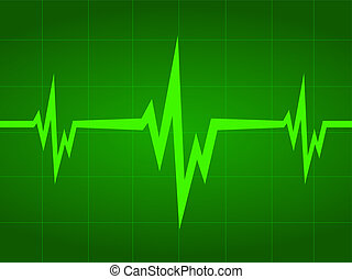 heart beat. Ekg graph. - The figure shows the beating of the...