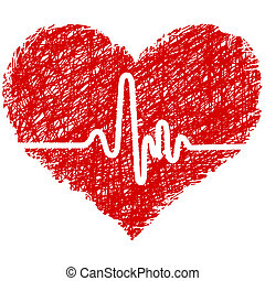 Heart beat - heart with cardiogram
