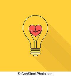 Heart beat in a light bulb