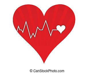 Heart beat lifeline - Illustration depicting a graph from a ...
