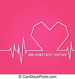 Heart Beat - Love Design for Valentine's Day Logo - in vector