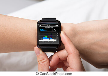 Heart Beat Monitor On Smart Watch