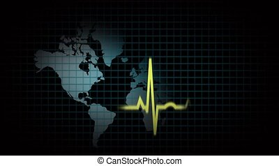Heart beat of the world, concept