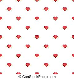 Heart beat pattern seamless