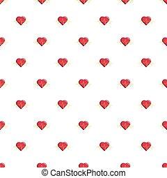 Heart beat pattern seamless