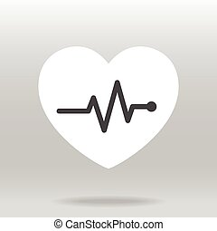 Heart beat pulse icon for medical.