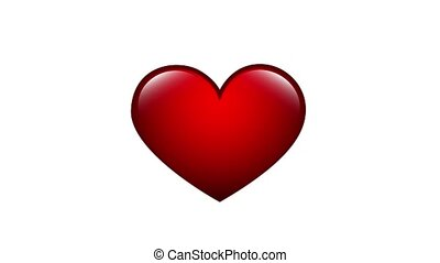 heart beat red icon animation video