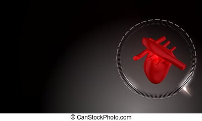 Heart beating and rotating