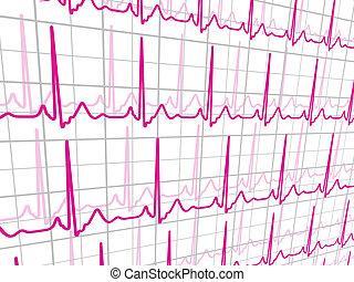 Heart beats cardiogram. EPS 8
