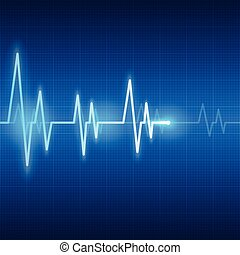 heart beats on healthcare and medical abstract background vector