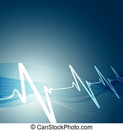 heart beats vector illustration