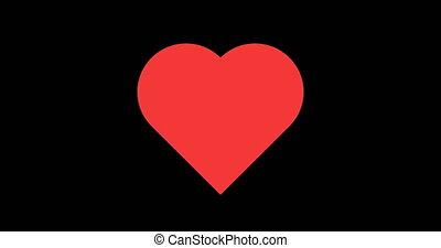 Heart beatsable to loop seamless 4k