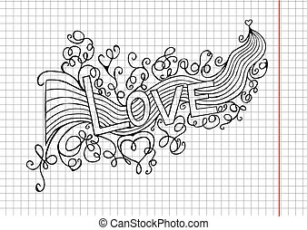 heart birth love with rainbow. Hand-drawn. Vector