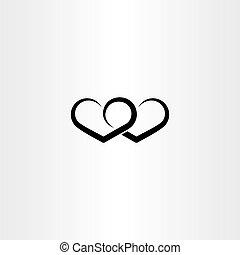 heart black icon love valentine symbol sign