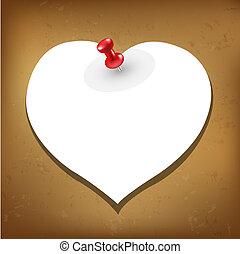 Heart Blank Gift Tag, Vector Illustration