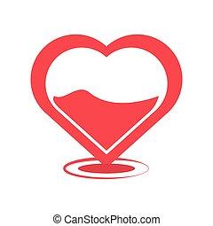 heart blood donation symbol