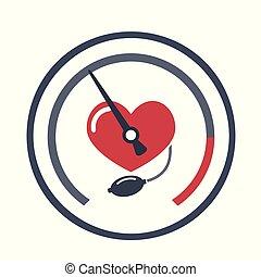 Heart, blood pressure measuring.
