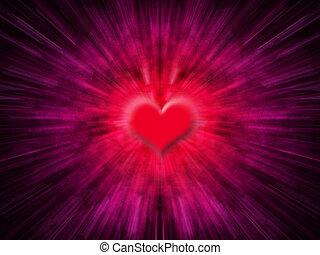 Heart blur - Abstract heart background