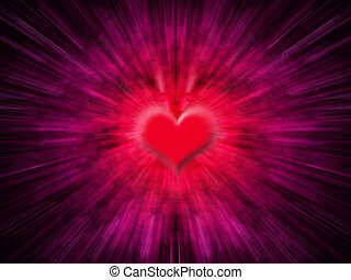 Heart blur - Abstract heart background