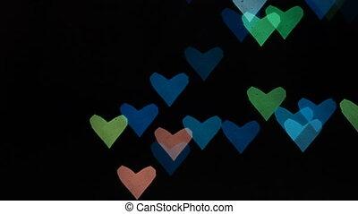 Heart bokeh background