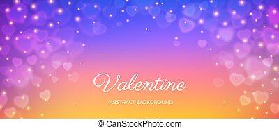 Heart bokeh frame background valentine love vector - Heart ...
