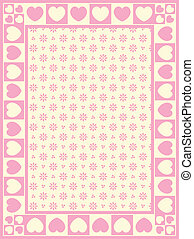 Heart Border with Victorian Eyelet