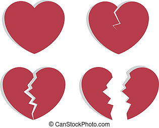 Heart splitting and breaking apart