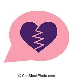 heart broken romance talk bubble