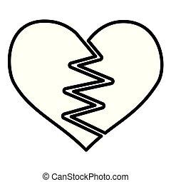 heart broken romance white background