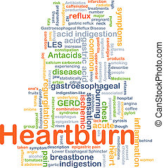 Heart burn background concept - Background concept wordcloud...