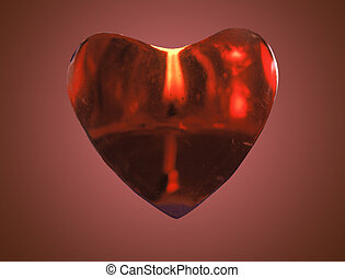 Heart burn - heart candle isolated