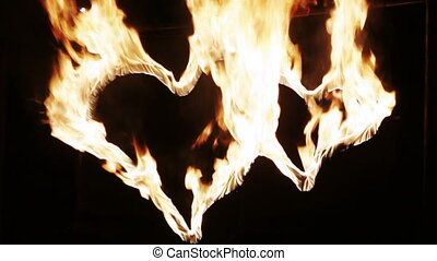 Heart burning fire