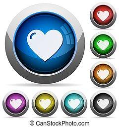 Heart button set
