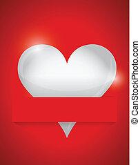 heart card illustration design
