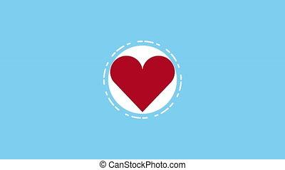 heart cardio with pulse medical animation - heart cardio...